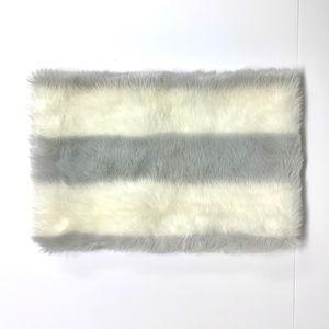 LOFT grey & white faux fur infinity scarf/collar